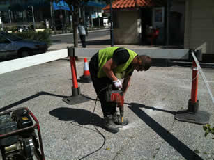 SVS drilling in Gibraltar town centre